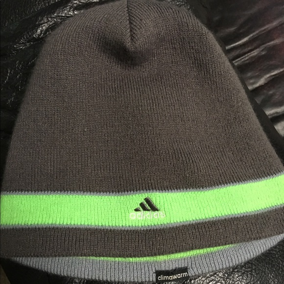 f6d5747c2aa adidas Other - Gray   Lime Green Adidas Winter Beanie Hat